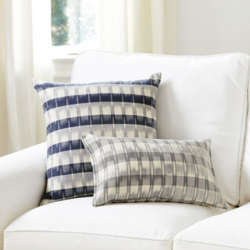 Natalya Ikat Striped Throw Pillow Cover