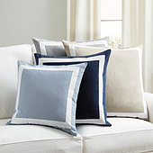 Bordered Linen Pillow