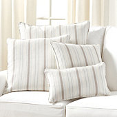 Suzanne Kasler Signature 13oz Linen Pillow in Cote Stripe Sky