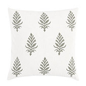 Leela Embroidered Pillow Cover - Gray