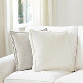 Laurel Frayed Box Edge Pillow