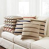 Velvet Striped Linen Pillow Cover