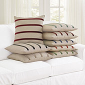 Velvet Striped Linen Pillow