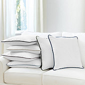 Velvet Piped Linen Pillow Cover - Select Colors
