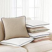 Velvet Piped Linen Pillow