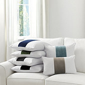 Velvet Colorblock Linen Pillow Cover - Select Colors