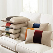 Velvet Colorblock Linen Pillow