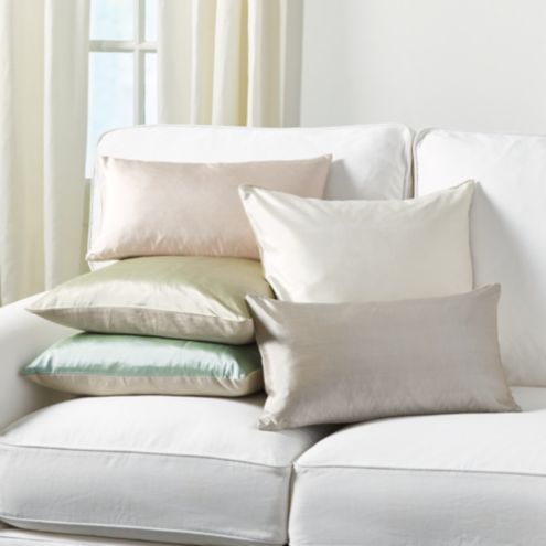 Dupioni Silk & Linen Pillow Gray 20