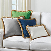 Linen Fringed Pillow Cover