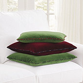 Signature Velvet & Plaid Pillow