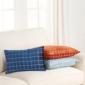 Velvet Windowpane Pillow Cover