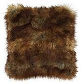 Lush Sable Faux Fur Pillow Cover - Sable