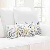 Wildflower Embroidered Pillow Cover