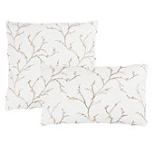 Cherry Blossom Embroidered Pillow Cove