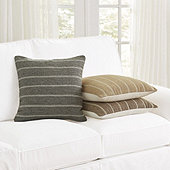 Pinstriped Flatweave Pillow