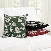 Tabitha Crewel Embroidered Floral Pillow