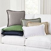 Everyday Linen Fringed Pillow