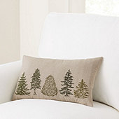 Evergreen Embroidered Pillow
