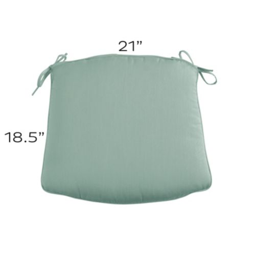 Outdoor Chair Cushion with Knife Edge Welts -
