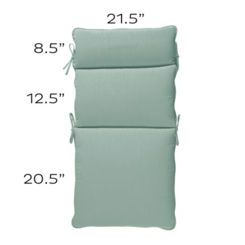 Outdoor Seat Back and Cushion Set O -