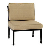 Outdoor Seat & Back Armless Lounge Chair Replacement Cushion - 27 x 24.5