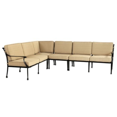 Amalfi 4-Piece Sectional Box Edge Replacement Cushion