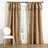 Burlap Panel with Fringed Valance