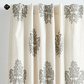 Bingham Printed Damask Drapery Panel