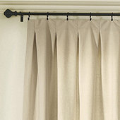 Custom Drapery Panel with Inverted Box Pleat, 30