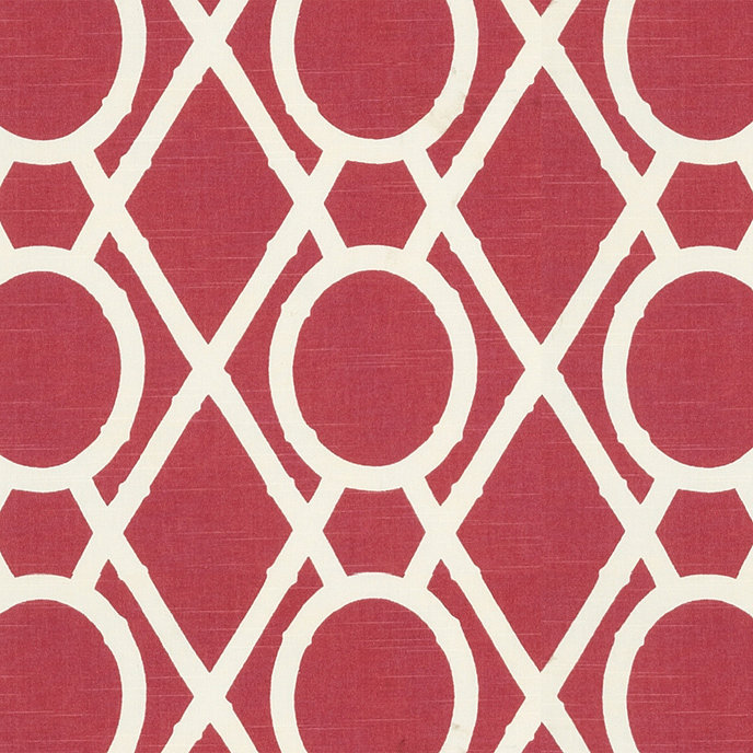 Camargo Lattice Raspberry Fabric By The Yard Ballard Designs