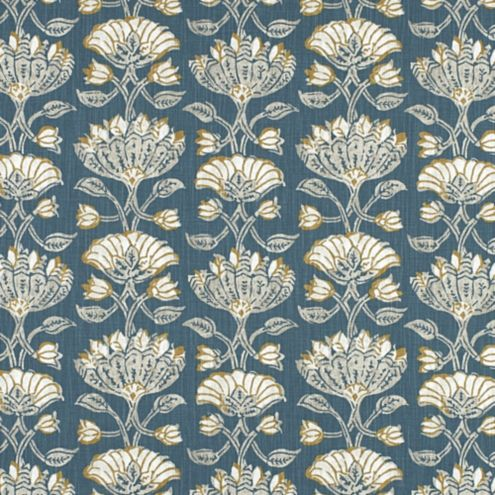 Cayman Teal Cotton Upholstery Fabric