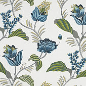 Emmie Blue Fabric By The Yard