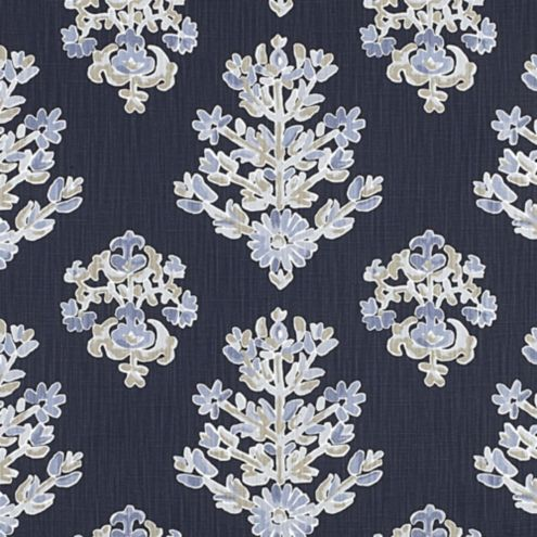 Eliza Navy Floral Upholstery Fabric