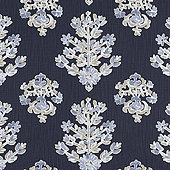 Eliza Navy Fabric by the Yard