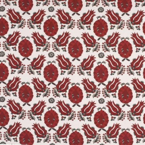 Holly Red Linen Cotton Fabric