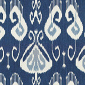 Toscana Ikat Blue Fabric By The Yard
