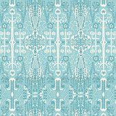 Kaley Aqua Fabric By the Yard