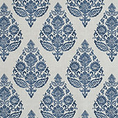Kavi Blue Fabric by the Yard