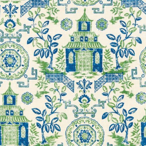 Pagoda Green Fabric by the Yard