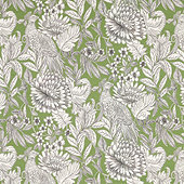 Pheasant Fern Fabric by the Yard