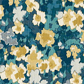 Percy Blue Fabric by the Yard