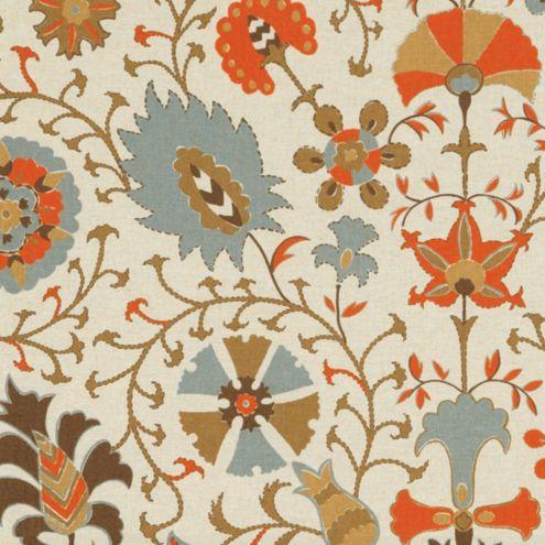 Timur Orange Fabric By The Yard Ballard Designs