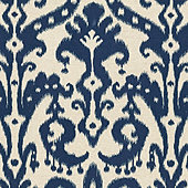 Venice Ikat Navy Fabric by the Yard
