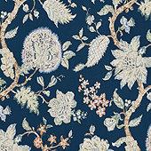 Vivian Navy Fabric by the Yard