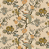 Willa Parchment Fabric By The Yard