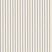 Vintage Ticking Stripe Navy Fabric by the Yard