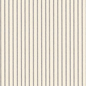 Vintage Ticking Stripe Black Fabric by the Yard