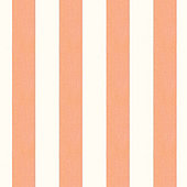 Canopy Stripe Apricot & White Sunbrella® Fabric by the Yard