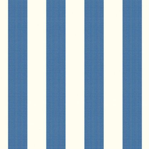 Canopy Stripe Azure/White Sunbrella® Fabric by the Yard