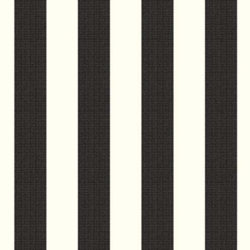 Canopy Stripe Black/White Sunbrella® Fabric by the